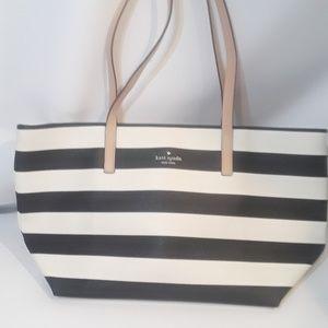 Kate Spade tote handbag striped